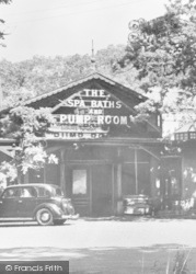 Sign, The Bath And Pump Room c.1950, Woodhall Spa