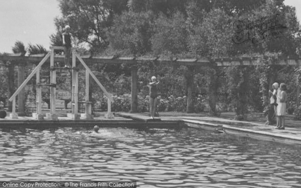 Photo of Woodhall Spa, The Jubilee Pool Diving Board c.1955