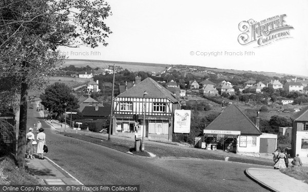 Photo of Woodingdean, The Cross Road c.1955