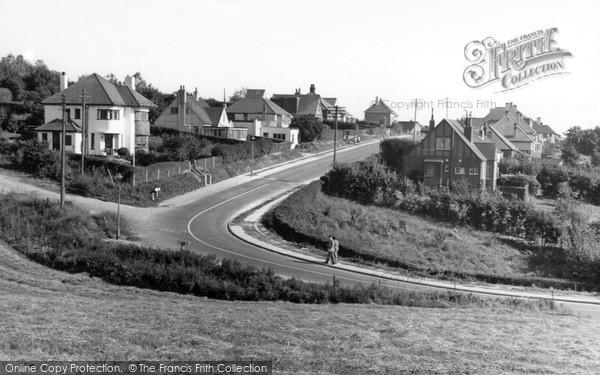 Photo of Woodingdean, The Ridgway c.1955