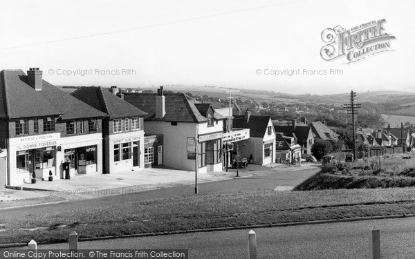 Photo of Woodingdean, The Village c.1955