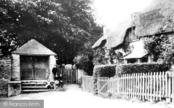 Church Porch And Cottages 1890, Woodleigh
