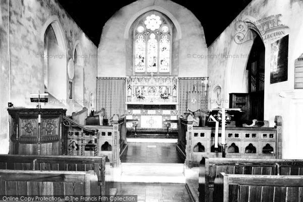 Photo of Woodmansterne, The Church Interior c.1955