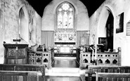Woodmansterne, the Church interior c1955