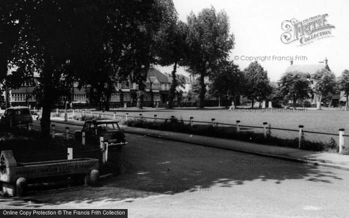 Photo of Woodside Green, Horse Trough And Green c.1965