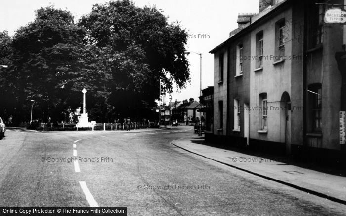 Photo of Woodside Green, The Memorial c.1965