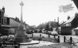 Woodside Green, The War Memorial c.1965