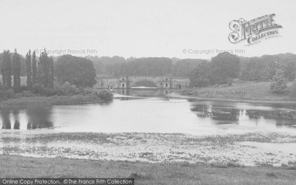 Photo of Woodstock, Lake And Bridge, Blenheim Palace c.1955