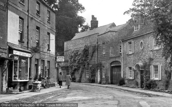 Photo of Woodstock, Park Street & Chaucer's House c.1955