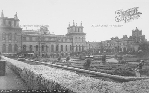 Photo of Woodstock, The French Gardens, Blenheim Palace c.1960