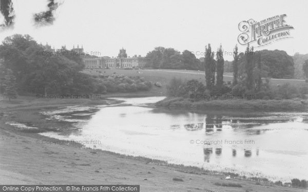 Photo of Woodstock, The Lake And Blenheim Palace c.1955