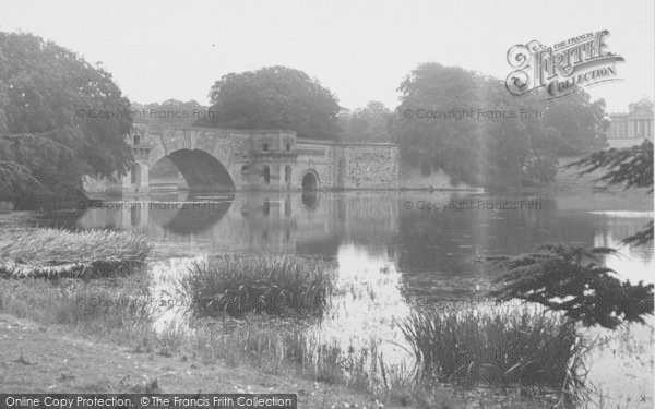 Photo of Woodstock, The Lake And Bridge, Blenheim Palace c.1955