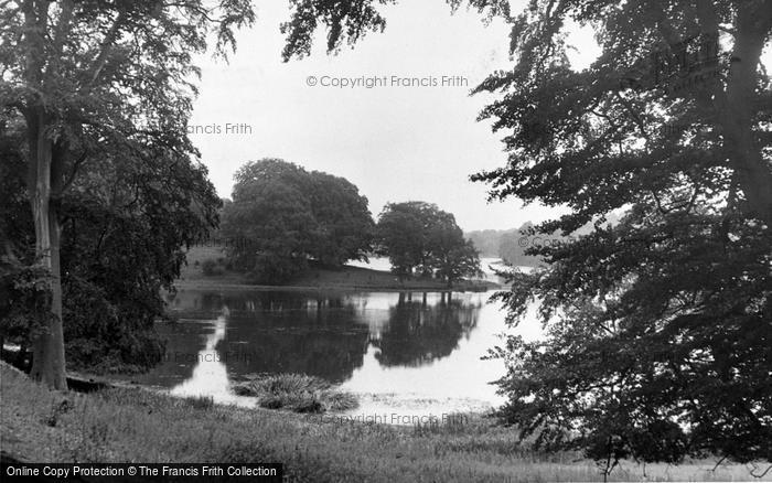 Photo of Woodstock, The Lake, Blenheim Palace c.1955