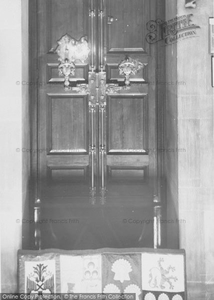 Photo of Woodstock, The Main Doors, Blenheim Palace c.1955