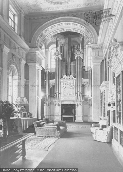 Photo of Woodstock, The Organ And Long Library, Blenheim Palace c.1960