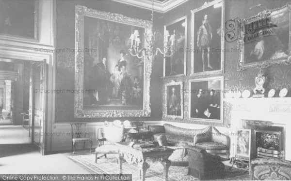Photo of Woodstock, The Red Drawing Room, Blenheim Palace c.1955
