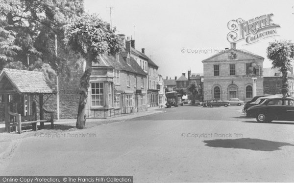 Photo of Woodstock, The Stocks And Market Place c.1960