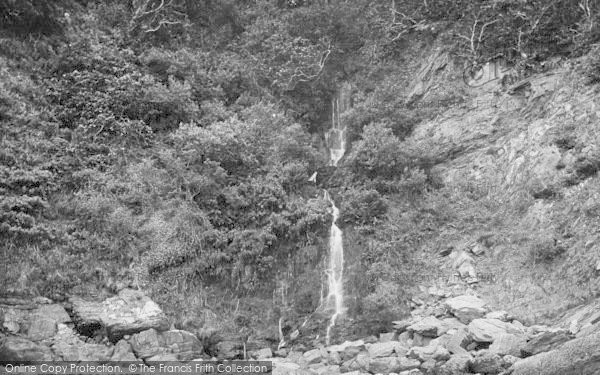 Photo of Woody Bay, Beach Waterfall 1908