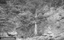 Woody Bay, Beach Waterfall 1908