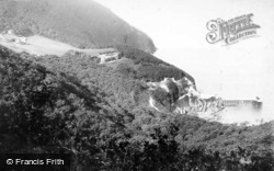 Cliffs And Pier c.1898, Woody Bay