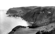 Woody Bay, from west 1908