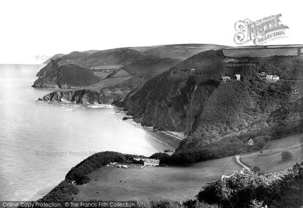 Photo of Woody Bay, from west 1908
