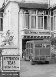 Woody Bay Hotel Entrance c.1955, Woody Bay