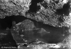 Wookey Hole, The Cave, Lake And Island 1896