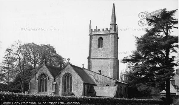 Photo of Wookey, St Matthew's Church c.1955