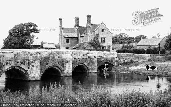 Photo of Wool, Bridge And Manor c.1955
