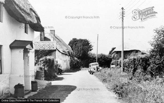 Photo of Wool, Church Lane c.1955