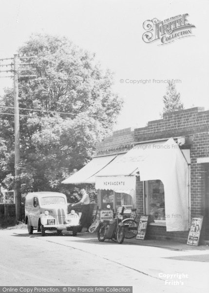 Photo of Wool, Dorchester Road, Newsagent's c.1955
