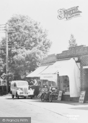 Wool, Rochester Road, Newsagent's c.1955