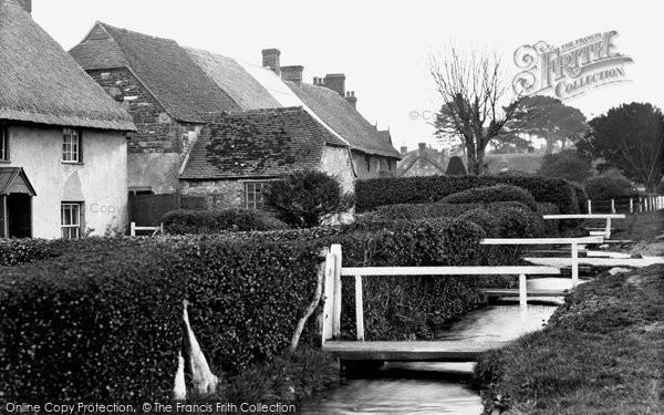 Photo of Wool, Stream In The Village Street c.1950