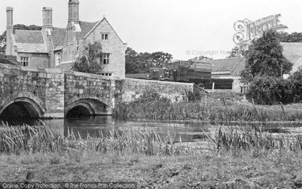 Photo of Wool, Tank Crossing Wool Bridge c.1950