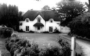 Wool, Thatched Cottage c.1965