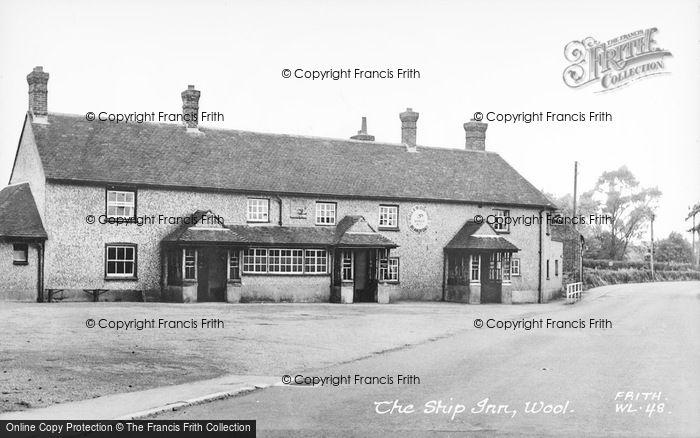 Photo of Wool, The Ship Inn c.1955