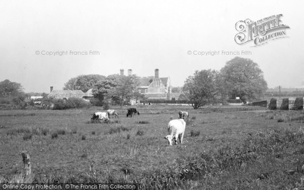 Photo of Wool, Wool Bridge And Manor Hotel c.1950