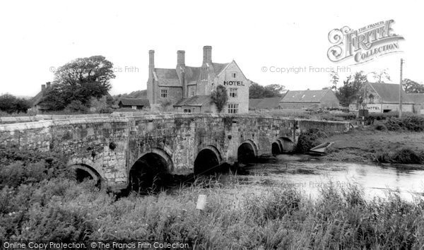 Photo of Wool, Woolbridge Manor Hotel And River Frome c.1965
