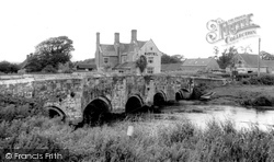 Woolbridge Manor Hotel And River Frome c.1965, Wool