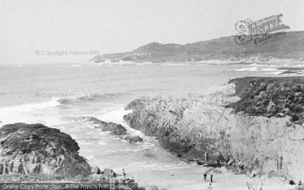 Photo of Woolacombe, Barricane Beach c.1950