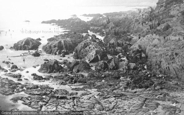 Photo of Woolacombe, Barricane Beach c.1960