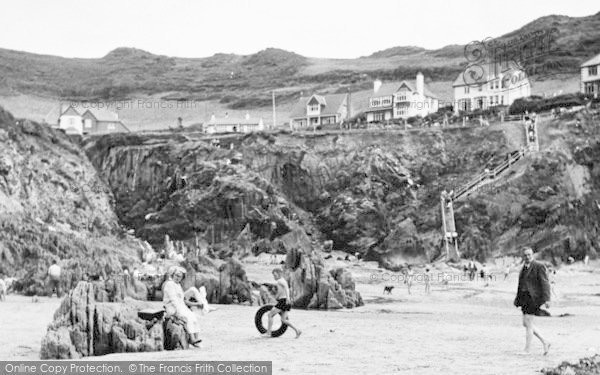 Photo of Woolacombe, Barricane Shell Beach c.1955