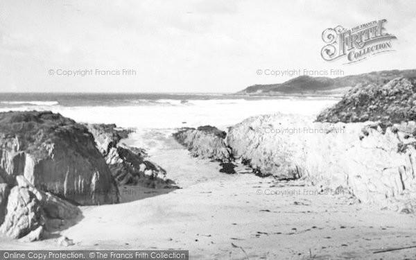 Photo of Woolacombe, Barricane Shell Beach c.1960
