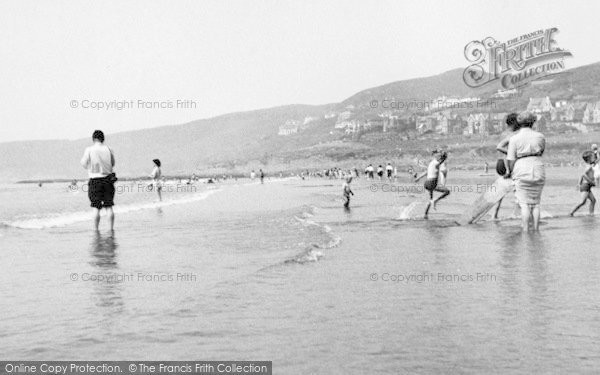 Photo of Woolacombe, Beach c.1955