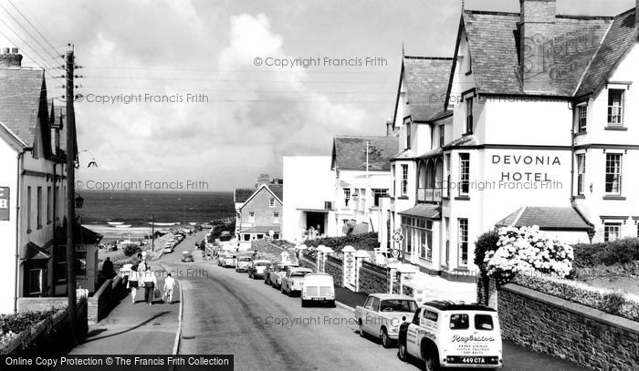 Photo of Woolacombe, Beach Road c.1965
