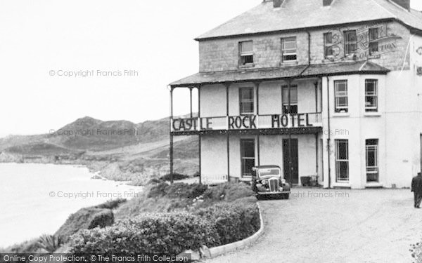 Photo of Woolacombe, Castle Rock Hotel And Morte Point c.1955