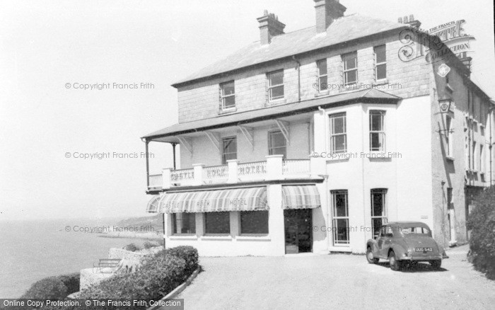 Photo of Woolacombe, Castle Rock Hotel c.1955
