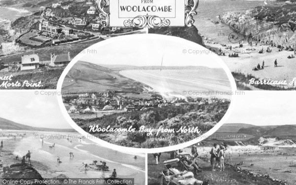 Photo of Woolacombe, Composite c.1950