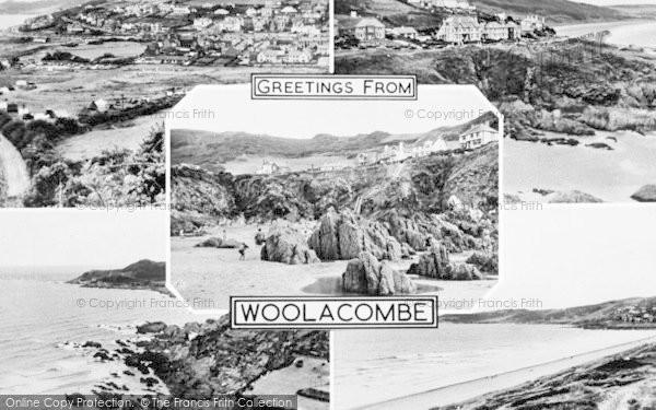Photo of Woolacombe, Composite c.1955